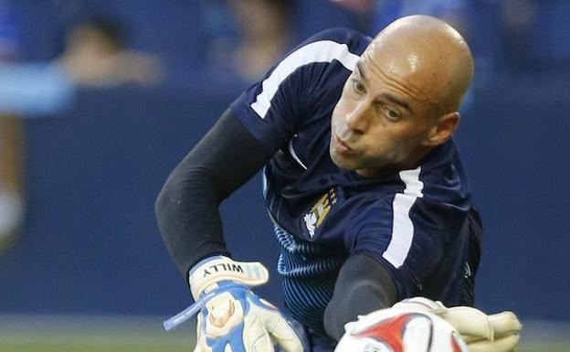 Willy Caballero, con el Manchester City.