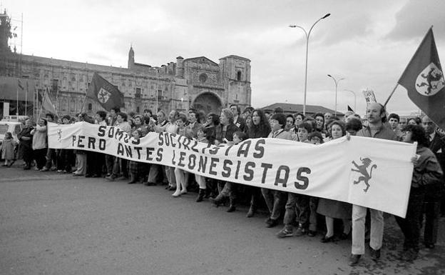 'Somos socialistas, pero antes leonesistas'.