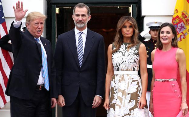 Trump junto a Felipe y Letizia: