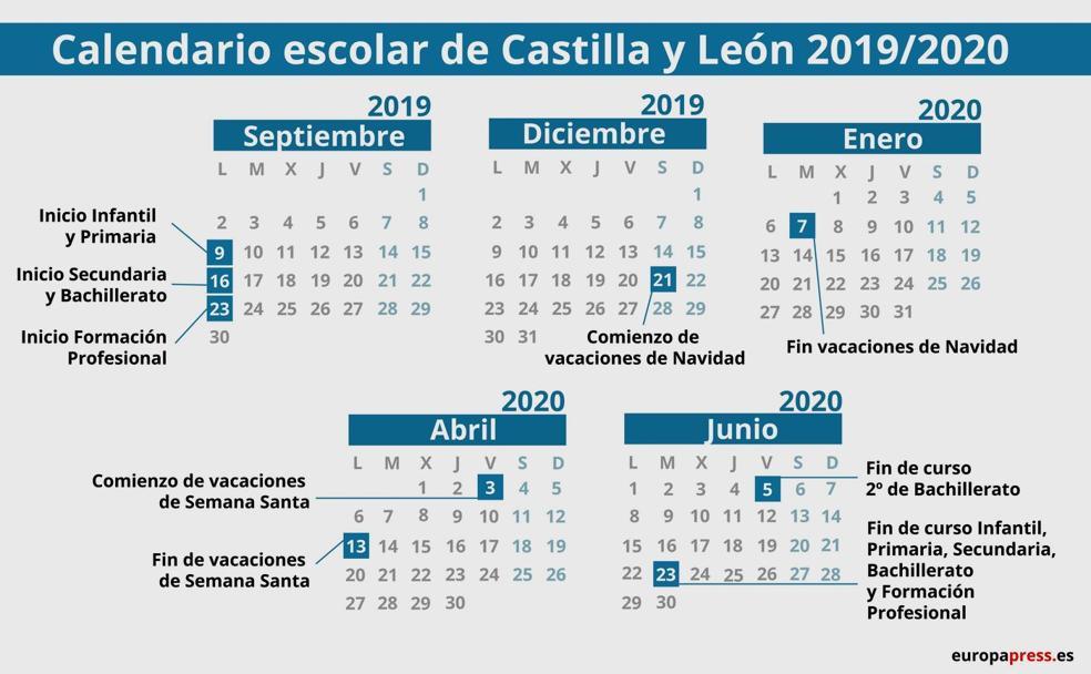Calendario Fin De Semana 2019.Las Fechas De La Vuelta Al Cole El Bierzo Noticias
