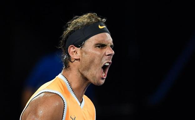 Rafa Nadal, durante su partido ante Stefanos Tsitsipas. /William West (Afp)