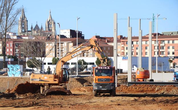 Así avanzan las obras del nuevo espacio comercial.